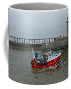 Fishing Boat Wy110 Emulater - Entering Whitby Harbour Coffee Mug