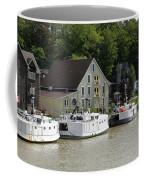 Fishing Boats All In A Row Coffee Mug