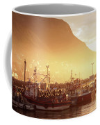Fishing Boats At Dawn Kalk Bay South Africa Coffee Mug