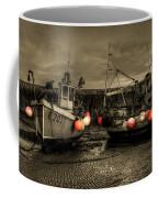 Fishing Boats At Lyme Regis Coffee Mug