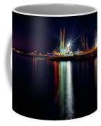 Fishing Boats In Marina At Night Coffee Mug