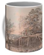 Fishing By A Footbridge Coffee Mug