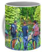 Fishing Friends, Azay Le Rideau, Loire Valley, France Coffee Mug