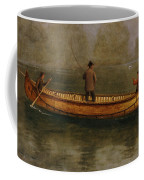 Fishing From A Canoe Coffee Mug by Albert Bierstadt