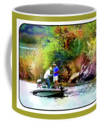 Fishing On Saguaro Lake In Arizona Coffee Mug
