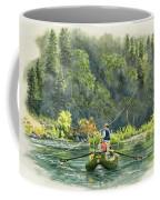October Morning Fishing The Trinity River Coffee Mug