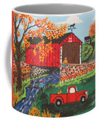 Fishing Under The  Covered Bridge Coffee Mug