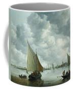 Fishingboat In An Estuary Coffee Mug by Jan Josephsz van Goyen