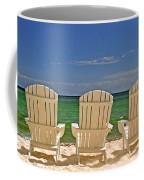 Five Chairs On The Beach Coffee Mug