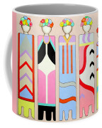 Five Flower Ladies Coffee Mug