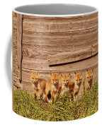 Five Fox Kits By Old Saskatchewan Granary Coffee Mug