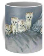 Five Kitties Coffee Mug