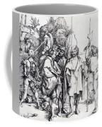 Five Lansquenets And An Oriental On Horseback 1495 Coffee Mug