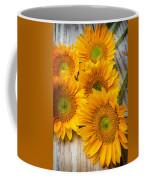 Five Moody Sunflowers Coffee Mug