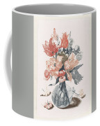 Five Prints With Flowers In Glass Vases, Anonymous, After Jean Baptiste Monnoyer, 1688 - 1698 Coffee Mug