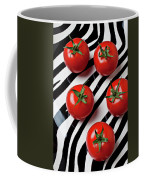 Five Tomatoes  Coffee Mug by Garry Gay