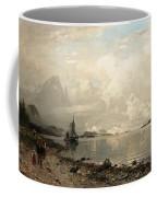Fjord Landscape With Figures Coffee Mug