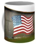 Flag And Barn - Painting Coffee Mug