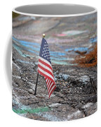 Flag In A Crack In The Pavement Coffee Mug