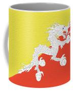 Flag Of Bhutan Wall Coffee Mug