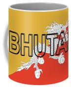 Flag Of Bhutan Word Coffee Mug
