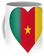 Flag Of Cameroon Heart Coffee Mug