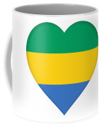Flag Of Gabon Heart  Coffee Mug