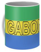 Flag Of Gabon Word. Coffee Mug