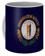 Flag Of Kentucky Grunge Coffee Mug
