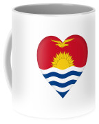 Flag Of Kiribati Heart Coffee Mug