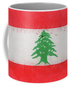 Flag Of Lebanon Grunge Coffee Mug