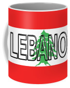 Flag Of Lebanon Word Coffee Mug