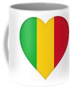 Flag Of  Mali Heart  Coffee Mug
