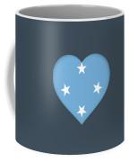 Flag Of Micronesia Heart Coffee Mug
