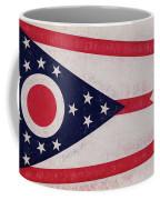 Flag Of Ohio Grunge Coffee Mug