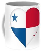 Flag Of Panama Heart  Coffee Mug