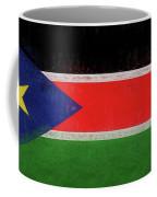Flag Of  South Sudan Grunge Coffee Mug