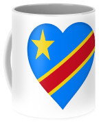 Flag Of The Congo Heart Coffee Mug