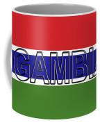 Flag Of The Gambia Word. Coffee Mug
