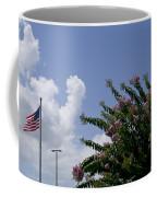 Flag With Pink Flowers Coffee Mug