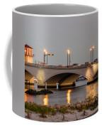 Flagler Bridge In Lights Iv Coffee Mug
