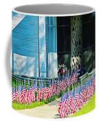 Flags Along The Walkway Coffee Mug