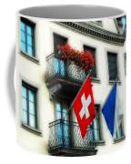 Flags Of Switzerland And Zurich Coffee Mug