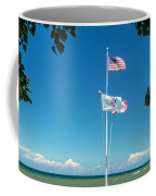 Flags On The Shoreline Coffee Mug