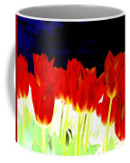 Flaming Red Tulips Coffee Mug