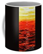 Flaming Sunset Abstract 205173 Coffee Mug by Mas Art Studio