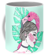Flamingo Girl Coffee Mug