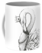 Flamingo In Pearl Necklace Coffee Mug