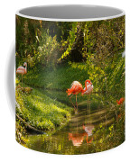 Flamingos Wading Coffee Mug