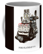 Flat Head V 8 Engine Coffee Mug